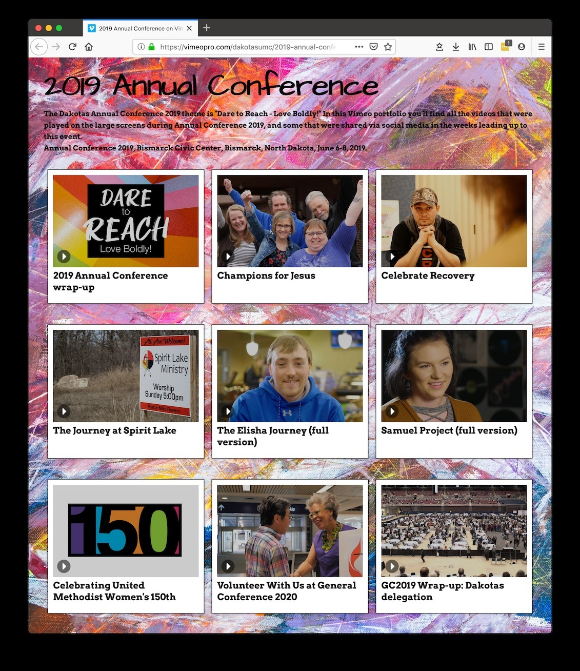 2019 Livestream Archive - Dakotas Annual Conference of The