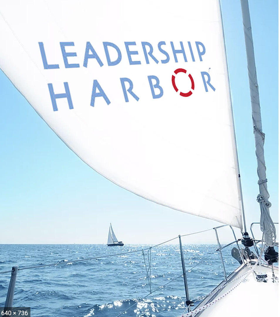 Graphic of Sail and Leadership Harbor logo
