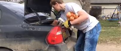 Rylan Placing Items Into Cars On April 1st