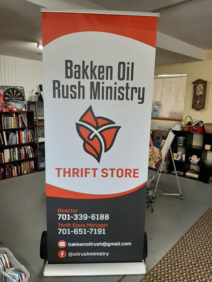 Bakken Thrift Store Sign
